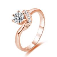 OLIVIE Stříbrný zásnubní prsten ROSE 4334 Velikost prstenů: 8 (EU: 57 - 58)