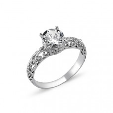 OLIVIE Stříbrný prsten OLIVIE s kubickým zirkonem 1272 Velikost prstenů: 9 (EU: 59 - 61)