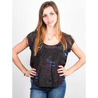 RVCA NAYLIN black dámské tričko s krátkým rukávem - S