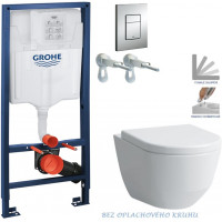 GROHE - Rapid SL Rapid SL pro závěsné WC 38528SET + WC LAUFEN PRO RIMLESS + SEDÁTKO (38772001 LP1)