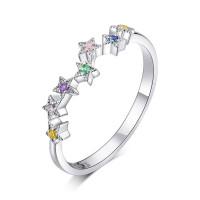 OLIVIE Stříbrný prsten HVĚZDIČKY 4700 Velikost prstenů: 8 (EU: 57 - 58)