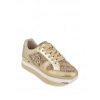 GUESS tenisky Dealy Logo Flatform Sneakers zlaté vel. 40
