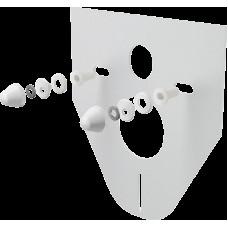 ALCAPLAST - Tlumící izolační deska záv.WC,bidet, BÍLÉ krytky a průchodky, zkosená M910 (M910)