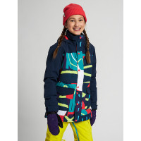 Burton ELSTAR GRAPHIC MIX dětská zimní bunda - XL
