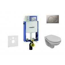 Geberit Sada pro závěsné WC + klozet a sedátko Ideal Standard Quarzo - sada s tlačítkem Sigma01, matný chrom 110.302.00.5 NR3