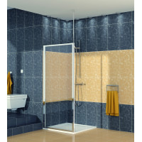 SanSwiss ECOF 0800 50 07 Boční stěna sprchová 80 cm, aluchrom/sklo