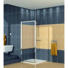 SanSwiss ECOF 0700 50 07 Boční stěna sprchová 70 cm, aluchrom/sklo
