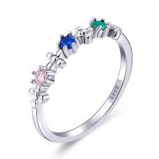 OLIVIE Stříbrný prsten COLORS 4125 Velikost prstenů: 7 (EU: 54 - 56)