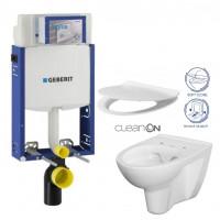 GEBERIT - SET Kombifix KOMBIFIX ECO pro závěsné WC, nádržka UP 320 bez Ovládací desky + WC CERSANIT PARVA CLEANON + SEDÁTKO (110.302.00.5 PA2)