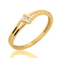 Couple Zlatý dámský prsten Lotte 4515046 Velikost prstenu: 57