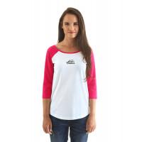 Horsefeathers BIRDIE rose red dámské tričko s dlouhým rukávem - XS