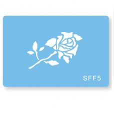 JEM Šablona Stelcil Romantická růže samostatná