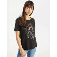 Billabong BONDY black dámské tričko s krátkým rukávem - XS