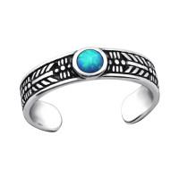 OLIVIE Stříbrný prsten na nohu OPAL 2741