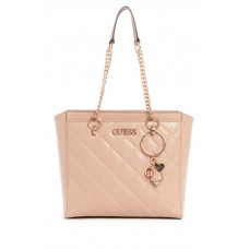 GUESS kabelka Wilona Quilted Logo Tote rose vel.