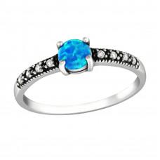 OLIVIE Stříbrný prsten se zirkonem BLUE 0652 Velikost prstenů: 8 (EU: 57 - 58)