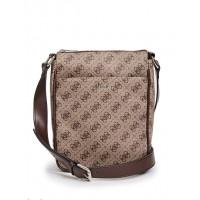 GUESS pánská taška Small Sig Logo Crossbody hnědá vel.