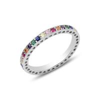 OLIVIE Stříbrný prsten COLORS 3175 Velikost prstenů: 6 (EU: 51 - 53)