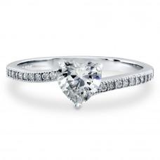 OLIVIE Stříbrný prstýnek LOVE STORY 4233 Velikost prstenů: 8 (EU: 57 - 58)