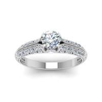 OLIVIE Stříbrný zásnubní prsten 2177 Velikost prstenů: 10 (EU: 62 - 64)