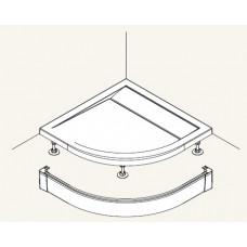 SanSwiss PWIR 55 080 04 Přední panel hliníkový pro čtvrtkruhovou vaničku 80×80 cm - bílý