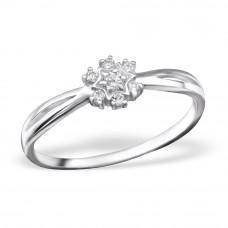 OLIVIE Stříbrný prsten HVĚZDA 0666 Velikost prstenů: 6 (EU: 51 - 53)