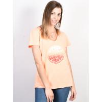 Rip Curl RAINBOW WETSUIT ROSA RANCIO dámské tričko s krátkým rukávem - XS