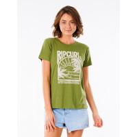 Rip Curl NORTH SHORE olive dámské tričko s krátkým rukávem - S
