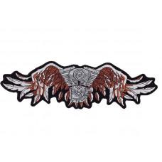 Nášivka zádovka - Motor křídla, 34,5 x 10,5cm - Motofanda 5486