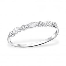 OLIVIE Stříbrný prsten se zirkony 0675 Velikost prstenů: 6 (EU: 51 - 53)