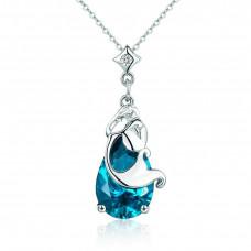 OLIVIE Stříbrný náhrdelník KAPKA VODY 3499