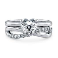 OLIVIE Stříbrný prsten pro zamilované 2176 Velikost prstenů: 10 (EU: 62 - 64)