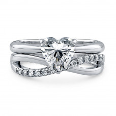 OLIVIE Stříbrný prsten pro zamilované 2176 Velikost prstenů: 5 (EU: 47 - 50)