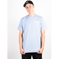 RVCA TROPICALE Dusty Blue pánské tričko s krátkým rukávem - XL