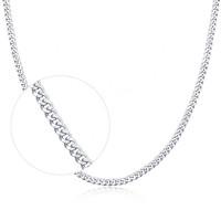 OLIVIE Stříbrný 40cm řetízek rhodiovaný 4601
