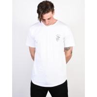 Quiksilver SCALLOP BOARD FUSION white pánské tričko s krátkým rukávem - XL