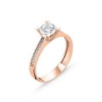 OLIVIE Stříbrný prsten ROSE 3107 Velikost prstenů: 9 (EU: 59 - 61)