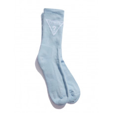 GUESS ponožky Triangle Logo Crew Socks modré vel.