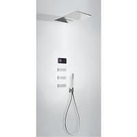 TRES - Termostatický podomítkový elektronický sprchový set SHOWER TECHNOLOGY Včetně elektronického ovládání (černá barva). (09288408)