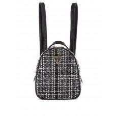 GUESS batoh Delon Tweed Convertible Mini Backpack černý vel.