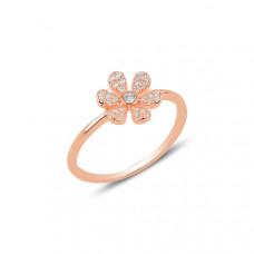 OLIVIE Stříbrný květinový prsten ROSE 3184 Velikost prstenů: 8 (EU: 57 - 58)