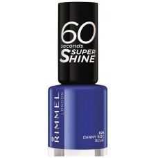 Rimmel London 60 Seconds Super Shine Nail Polish 8ml - 828 Danny Boy, Blue!