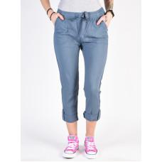 Roxy SYMPHONY LOVER NEW BLUE MIRAGE HEATHER plátěné sportovní kalhoty dámské - L
