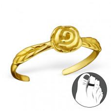 OLIVIE Stříbrný prsten na nohu RŮŽIČKA GOLD 0535