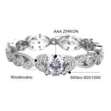 OLIVIE Stříbrný zásnubní prsten 2412 Velikost prstenů: 8 (EU: 57 - 58)