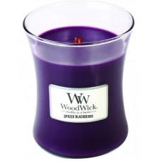 WoodWick oválná váza Spiced Blackberry 275g