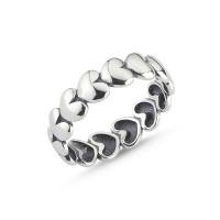 OLIVIE Stříbrný srdíčkový prsten 2372 Velikost prstenů: 8 (EU: 57 - 58)