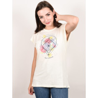 Animal CRYSTAL WINGS COCONUT CREAM dámské tričko s krátkým rukávem - 6