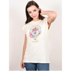 Animal CRYSTAL WINGS COCONUT CREAM dámské tričko s krátkým rukávem - 10