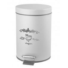 AQUALINE - NICEA odpadkový koš 3l, bílá (7500)
